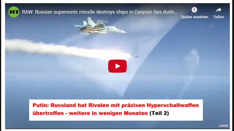 RAW Russian supersonic missile destroys ships in Caspian Sea during drills MoD footage Teil 2