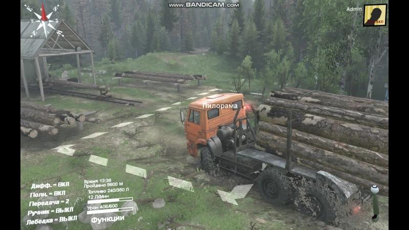 SpinTires везу дрова, продолжение