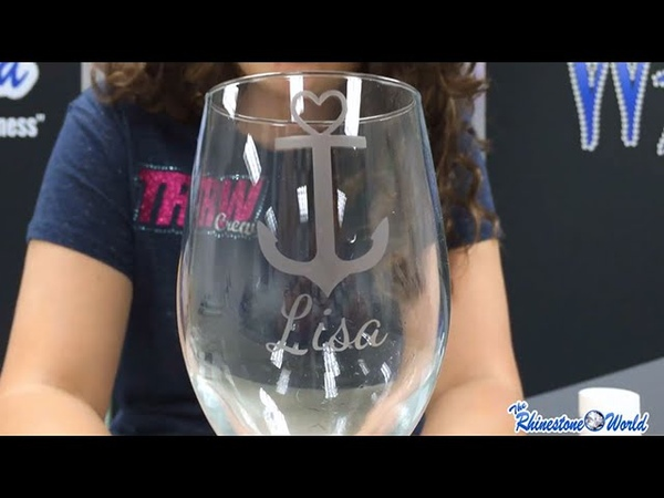 TRW Lab How to Design and Create A Custom Etched Wine Glass With Your Silhouette