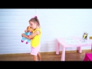 Arina Playing in Babysitting Pretend