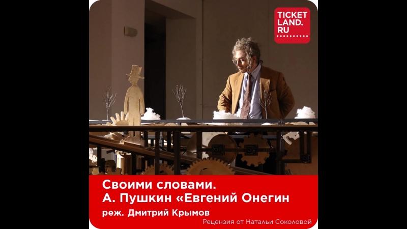 Своими словами Евгений Онегин Рецензия