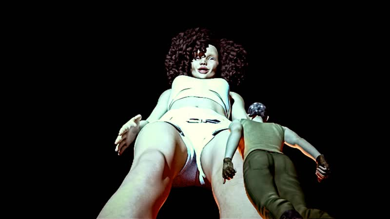 Afro Giantess Teen and The Thief (Special Video) trample foot fetish giantess