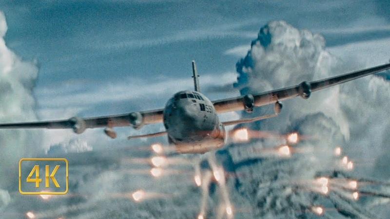 AC-130 против Мерседеса Бенц. Беспилотники пытаются сбить самолёт. Команда А (2010)