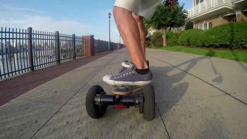 Carving in the Morning on the Evolve Skateboard Longboard