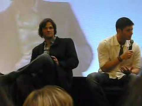 Jensen and Jared in LA Jensen on playing Dean