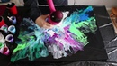 Fluid Painting with a Hair Dryer Breaching Silence