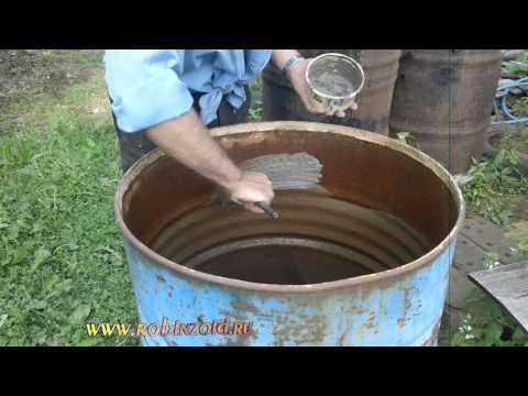 Как покрасить бочку для воды