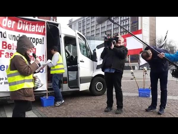 Interview mit dem GEZ Reichsbürger Sender WDR ein mitgebrachter Regime Troll in Dortmund