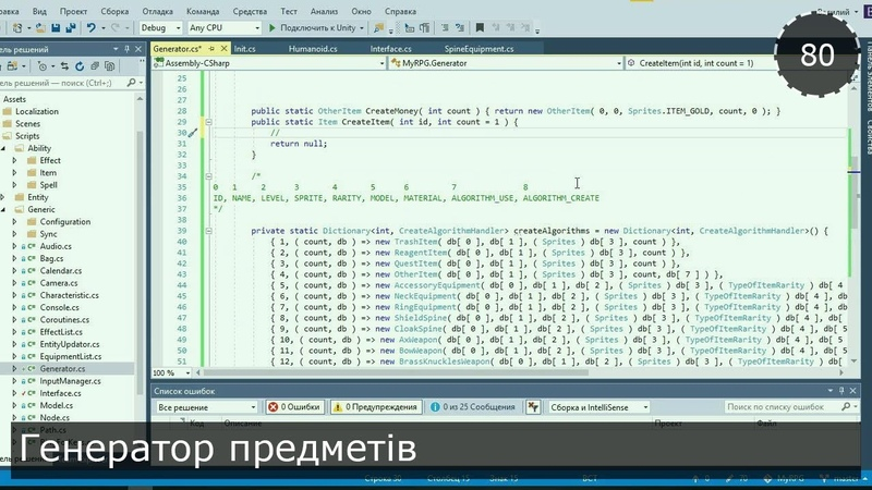 Unity3D Українською. Моя RPG. Генератор предметів