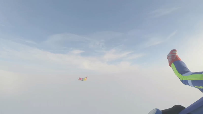 Прыжок с 2500 метров на Слободке 16.03.2019 Камера Ярика