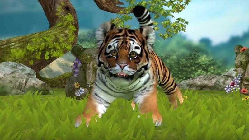 Cute Royal Bengal Tiger Cub - Kinectimals Gameplay