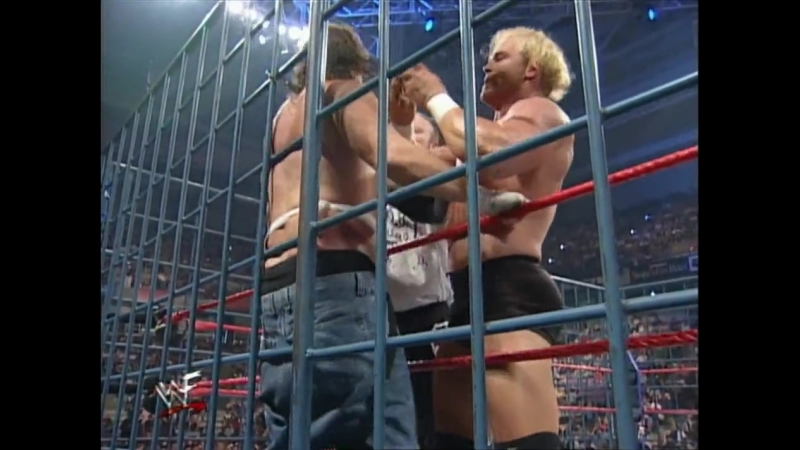 New Age Outlaws Vs Cactus Jack Chainsaw Charlie - Tag Team Steel Cage Match - RAW 30.03.1998