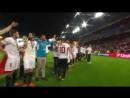 El Sevilla celebrando la victoria en la final de la Europa League 2016 en Basilea