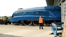 The Mallard being shunted to her temporary bed @ Shildon NRM 2010.