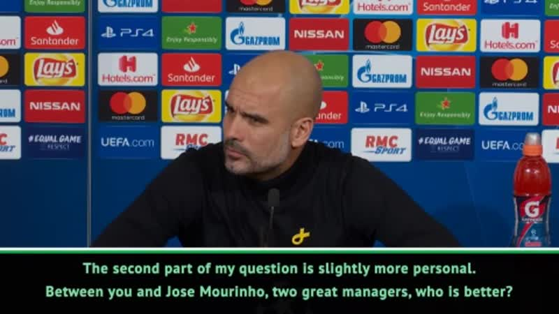 Journo Between you and Mourinho who is a better manager - Pep