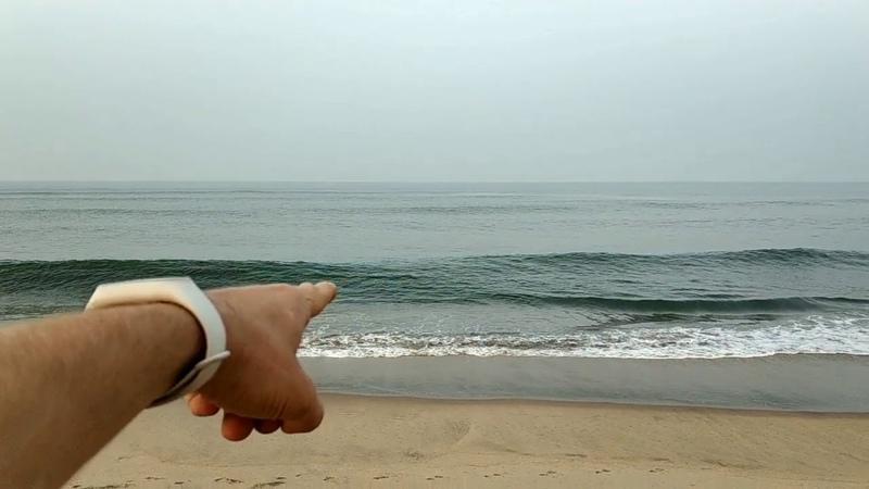 Пробежка по пляжу деревни Керим Гоа Индия 25.12.2108 в 6-00 утра