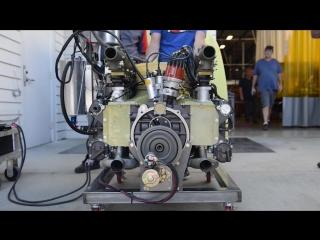 Ускоренное видео восстановления гоночного двигателя porsche 917 flat 12