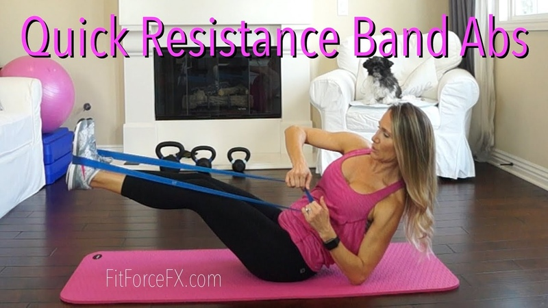 Resistance Band Abs Workout Core exercises for Sculpted Tight Abs sixpack flatabs absworkout