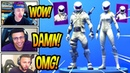 STREAMERS REACT TO *NEW* OVERTAKER WHITEOUT SKINS! *EPIC* Fortnite SAVAGE FUNNY Moments