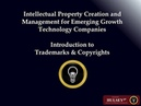 BILL HULSEY LAWYER - IP PATENTS - Introduction to Trademarks Copyrights