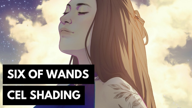 Six of Wands: Cel Shading in Photoshop