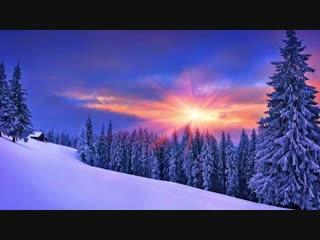 Зима, снег. Красивое видео для медитации и релаксации. Музыка для души. Гармония и отдых