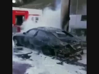 Сгорел авто на заправке, Магри, 22 ноября