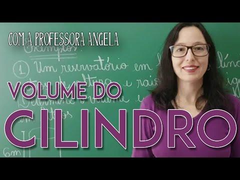 Volume do Cilindro - Vivendo a Matemática - Professora Angela