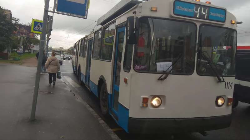 Троллейбус, маршрут №44 ЗиУ-683 БМ-1 б.1114 (03.10.2018) Санкт-Петербург