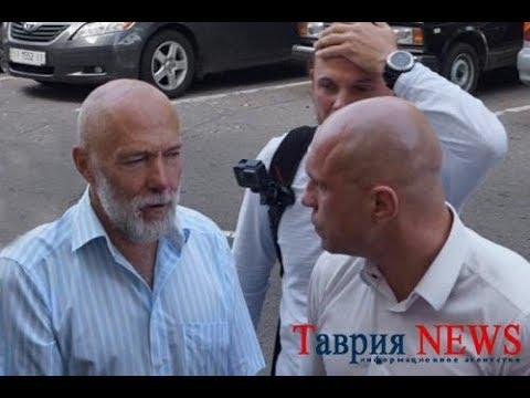 Мужик Илье Киве: Я тебе щас морду разобью Митинг Кивы против Порошенко, разбор Дульского