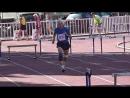 200 метров с барьерами Юрий Сараев устанавливает рекорд России на ЧР по л а среди ветеранов 3 5 августа 2018 г в г Москва