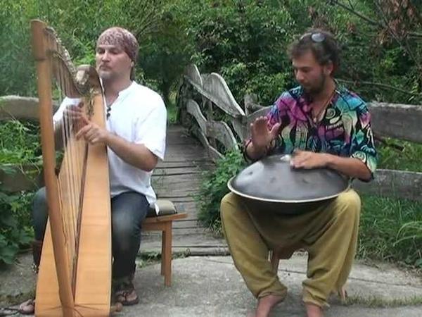 Alizbar Amin Кельтская арфа и Ханг Hang drum with celtic harp