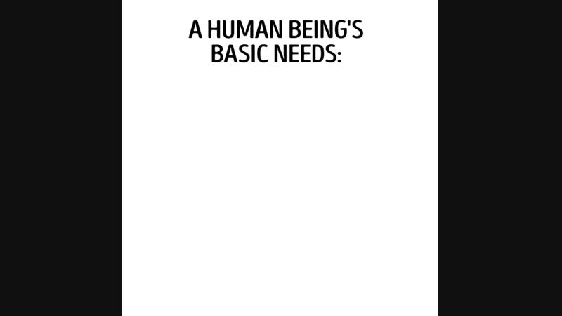 Human being's basic needs