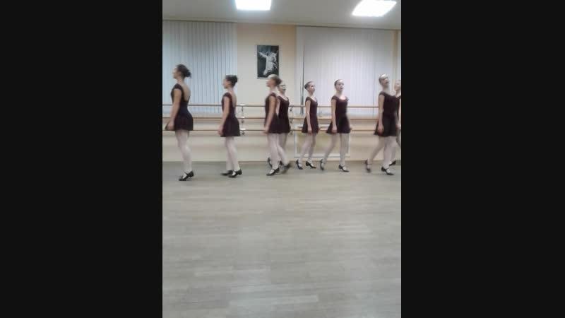 Народные танцы. Открытый урок 2018г 8кл.