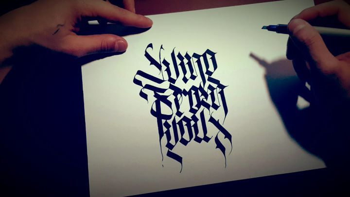 """𝕯𝖒𝖎𝖙𝖗𝖞 on Instagram: """"Lying_from_you calligraphy handstyle design graphic_design calligraphymasters calligraph handwriting handmade_font ..."""