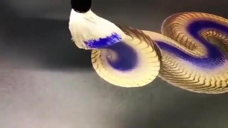 3д рисунок кистью VIDEO ВАРЕНЬЕ