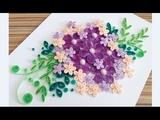Paper Quilling Flower Card For beginner Learning Video 13 Paper Flower Card