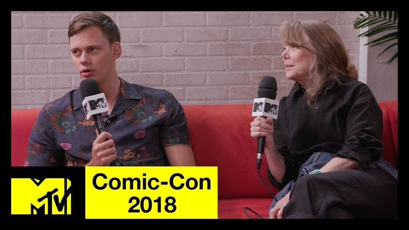 Bill Skarsgård and Sissy Spacek on Castle Rock, Stephen King, More | Comic-Con 2018 | MTV