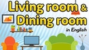 Living room dining room vocabulary in English