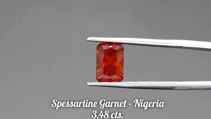 Rich Orange Spessartine Garnet Gemstone from KGC