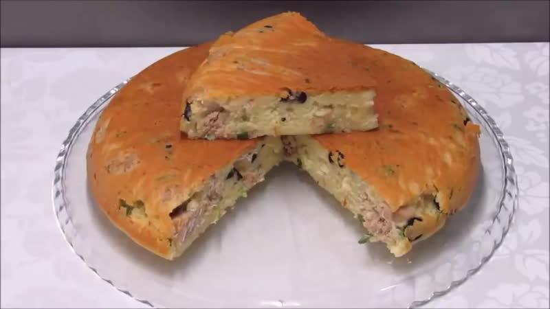 мясной пирог на сковороде