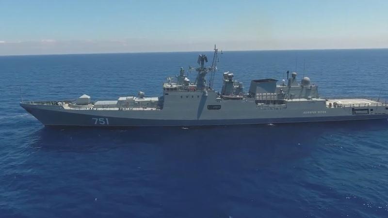 В Средиземном море российский фрегат выследил американскую подлодку