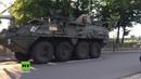 Exklusiv: US-Konvois in Deutschland - Schweres Gerät inklusive Panzer rollt Richtung A4