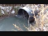Слив канализации в речку Быковка г.Жуковский