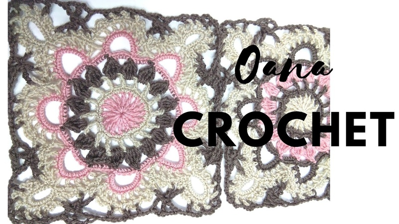 Lovely lacy square motif to crochet by Oana
