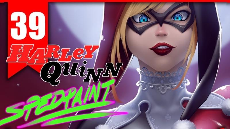 CRAZY CRAZY LOVE Harley Quinn Batman animated series Speedpaint Timelapse 39