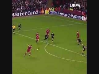 Famous. anfield. european. night. - - steven gerrard - - ucl @lfc