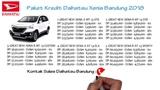 Kredit Daihatsu Xenia Bandung DP dan Cicilan Oktober 2018  082127725181