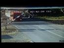 авария на шлагбауме грузовика