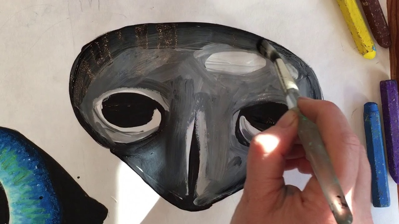 Painting the nose and beaks